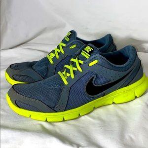 Nike Flex Experience Rn2 gray neon green Sz 12